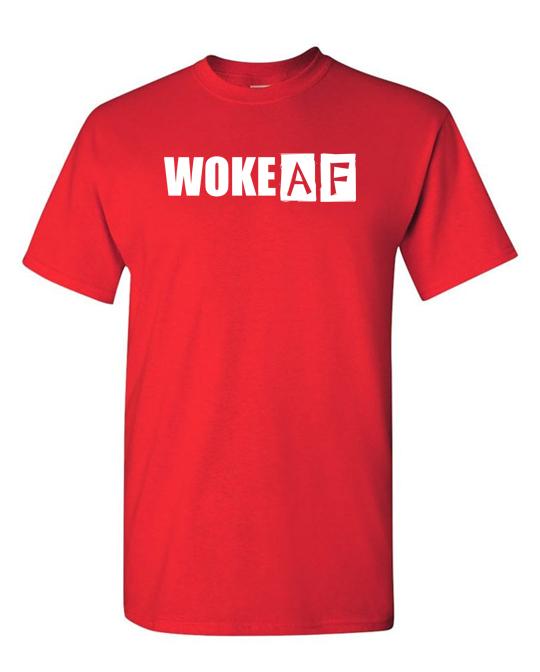 WokeAF-tee-red