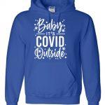 CovidOutside-hoodie-royalblue